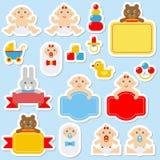 Стикеры - значки младенца Стоковое Фото