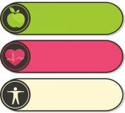 Стикеры здравоохранения. бесплатная иллюстрация