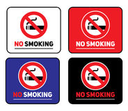Стикеры комплекта ярлыков для некурящих Стоковые Фото