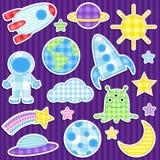 стикеры космоса Стоковая Фотография RF