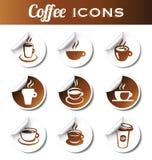 Стикеры кофе Стоковые Изображения