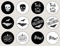 Стикеры на праздник хеллоуин бесплатная иллюстрация