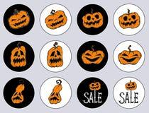 Стикеры на праздник хеллоуин иллюстрация штока