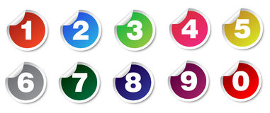 Стикеры номера установленные Стоковое Фото