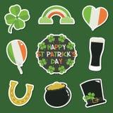 Стикеры дня St. Patrick иллюстрация штока