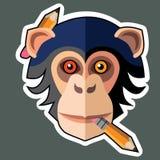 Стикеры обезьяны и дизайны стикера обезьяны Стоковые Изображения