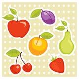 стикеры плодоовощ Стоковое фото RF
