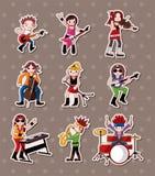 Стикеры полосы рок-музыки Стоковые Изображения