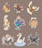 стикеры птицы иллюстрация штока