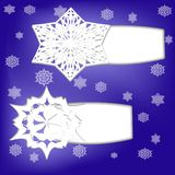 Стикеры сезона зимы Стоковая Фотография RF