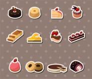 Стикеры торта иллюстрация штока