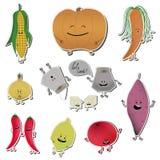Стикеры emoji еды Иллюстрация вектора vegetable варить стоковое фото rf