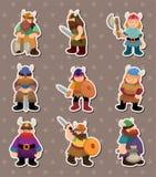 стикеры vikings людей Стоковые Изображения RF