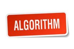 стикер алгоритма иллюстрация вектора