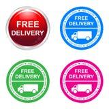 Стикер бесплатной доставки бесплатная иллюстрация