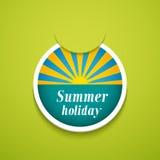 Стикер летнего отпуска. Стоковые Фотографии RF