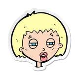 стикер женщины мультфильма суживая глаза бесплатная иллюстрация