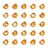 стикер иконы образования Стоковая Фотография