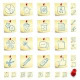 стикер иконы установленный Стоковое Изображение RF