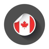 Стикер Канады с флагом бесплатная иллюстрация