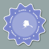 Стикер карты Аляски в ультрамодных цветах иллюстрация вектора