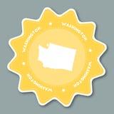 Стикер карты Вашингтона в ультрамодных цветах бесплатная иллюстрация