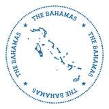Стикер карты вектора Багамских островов Стоковое Фото