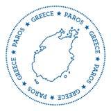 Стикер карты Paros иллюстрация штока