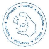 Стикер карты Santorini Стоковое Изображение