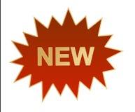 стикер логоса новый Стоковое Фото