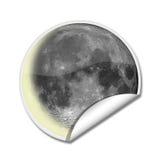 стикер луны Стоковые Фотографии RF