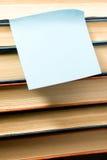 Стикер на книгах Стоковая Фотография RF