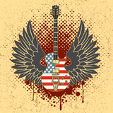 Стикер на рубашке изображение гитары крылов Стоковые Фотографии RF