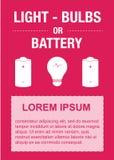 Стикер отброса, электрические лампочки, батарея, отброс, мусорная корзина Стоковые Изображения RF
