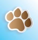 Стикер печати лапки собаки Стоковое фото RF