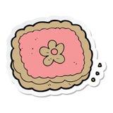 стикер печенья мультфильма иллюстрация вектора