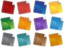 стикер пустого комплекта Стоковые Изображения RF