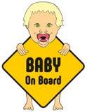 Стикер ребёнка на борту Стоковые Фотографии RF