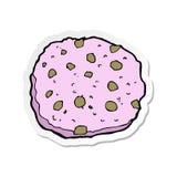 стикер розового мультфильма печенья иллюстрация штока