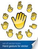 стикер руки жеста Стоковые Фото