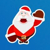 Стикер Санта Клауса Стоковые Изображения RF