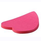 стикер сердца розовый Стоковая Фотография RF