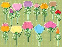 Стикер стержня цветка установленный иллюстрация штока