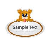 Стикер с животным дизайном - собака Стоковая Фотография
