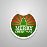 Стикер с Рождеством Христовым attach круга. Стоковое Фото