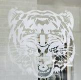 Стикер тигра Стоковое Изображение RF
