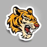Стикер тигра иллюстрация вектора