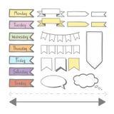Стикер установил для плановика иллюстрация штока