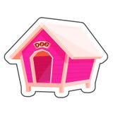 Стикер шаржа дома собаки Стоковые Изображения