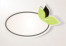 Стикер Eco содружественный, овальная бирка Стоковые Изображения